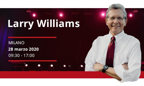 Larry Williams a Milano – 28 marzo 2020