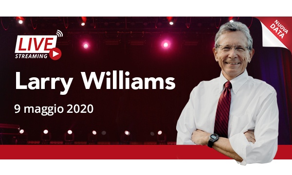 Larry Williams | LIVE STREAMING – 9 maggio 2020